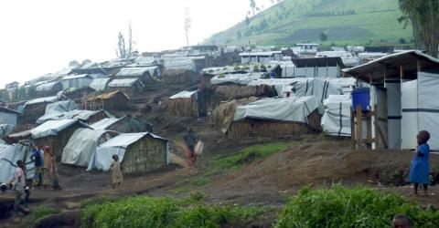 Internal displaced persons set up temporary sites after fleing the conflict in 2013 (File photo). © IOM 2013