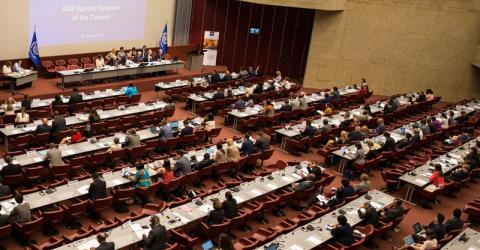 IOM Member States endorse the decision to join the UN system. Photo: IOM