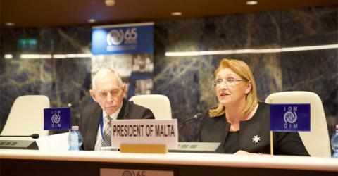 Keynote address from the President of Malta, Marie-Louise Coleiro Preca at IOM's 107th Council.