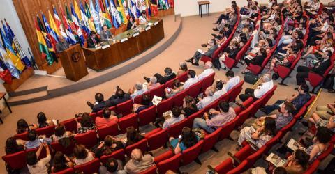 Lanzamiento de la publicación en la FAO en Santiago de Chile. Fotografía: OIM