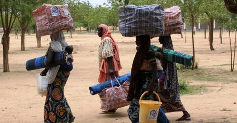 IOM distributes 1,000 emergency non-food item kits to the most vulnerable IDP, returnee and host community families in the Department of Mayo-Tsanaga, Cameroon. © IOM 2015