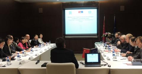 EU-China Dialogue on Migration and Mobility Support Project', first Coordination Meeting, 10 April 2014, Hilton Hotel, Beijing. © IOM 2015
