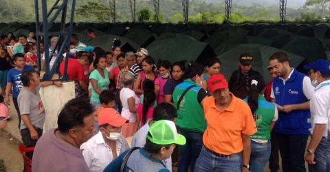 Over 300 families displaced in Colombia need temporary shelter due to extreme weather. Photo: UNHCR