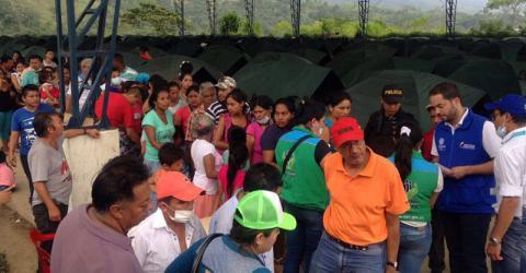 Más de 300 familias desplazadas a causa de la avalancha en Mocoa, Colombia Foto: ACNUR
