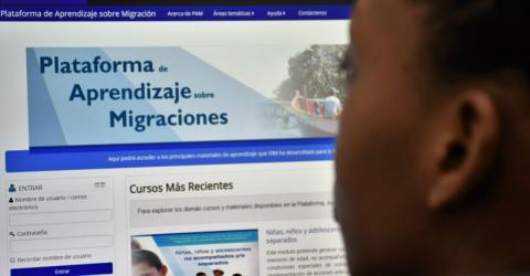 """Women in Migration"" on IOM's Migration Learning Platform. Photo: IOM"