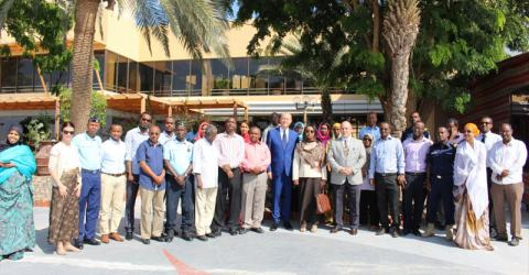 Participants of an IOM training on international migration law and child protection in Djibouti. © IOM 2015