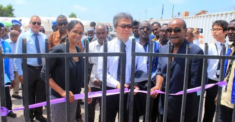 IOM inaugurates the rehabilitated Migration Response Center in Obock, Djibouti with support from Japan. Photo: IOM