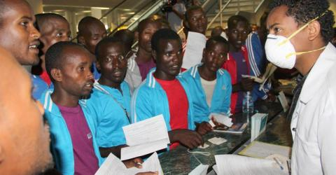 IOM helps 125 Ethiopians – many of them unaccompanied minors – to return home from Tanzania and Yemen. © IOM 2015