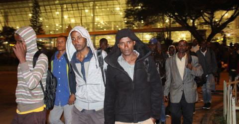 Survivors of the tragedy arrive home in Ethiopia. Photo: IOM