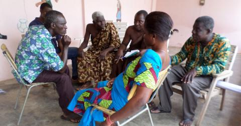 IOM organizes a micro-business skills training for fishermen in Ghana's Volta Region (Biakoya district). © IOM 2015