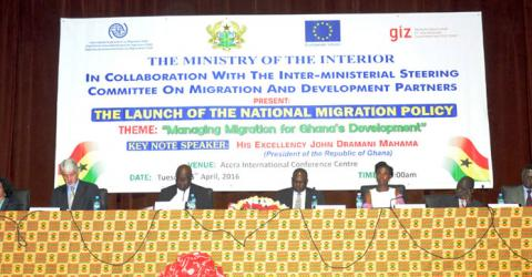 Ghana launches its National Migration Policy. Photo: IOM 2016