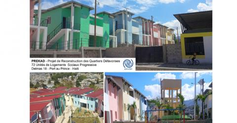 IOM built 72 housing units in earthquake-affected neighborhood. © IOM 2015