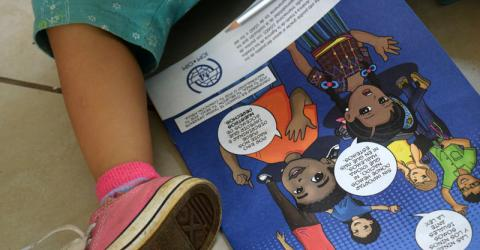 IOM will help Honduran agencies to provide care to returned migrant children. Photo: IOM / José Miguel Gómez