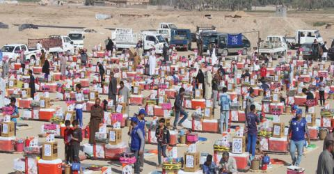 IOM distributes non-food items to internally displaced Iraqis. Photo: IOM