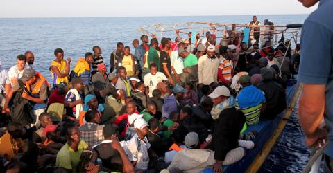 The Italian Coast Guard rescues migrants bound for Italy (File photo). © Francesco Malavolta/IOM 2014