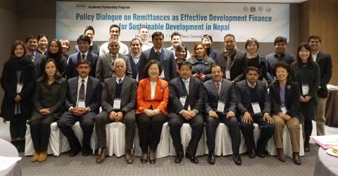 Participants of a policy dialogue and capacity building workshop on Nepali remittances held in Seoul on 26-28 January. © IOM 2016