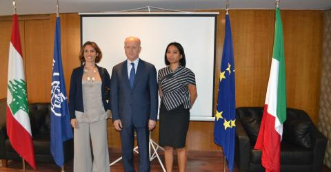 Lebanese government, IOM launch Public Service Announcement to combat human trafficking.
