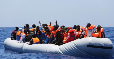 Despite limited resources, Libyan Coast Guards are rescuing more migrants and refugees at sea. File photo: Francesco Malavolta / IOM.