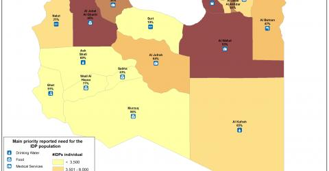 Libyan Internally Displaced Persons (IDPs) Needs Map