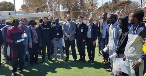 Personal de la OIM regresa junto a migrantes a sus casas en Gambia desde Libia. Foto: OIM