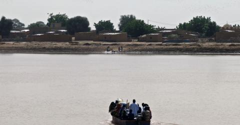 The Sylla border post on the Senegal river, which marks the frontier between Mauritania and Senegal.