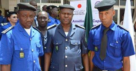 Malian and Mauritanian border police at the joint training. Photo: IOM.
