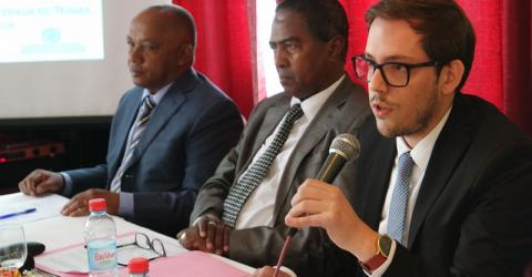 IOM's Daniel Silva y Poveda opens the training on Bilateral Labour Agreements with Malagasy Ministry of Employment counterparts. Photo: IOM