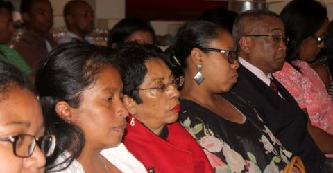 Delegates attend the launch of the report. Photo: IOM