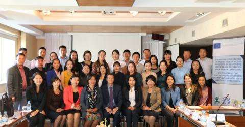 IOM and Mongolian counterparts work together to combat human trafficking. Photo: IOM