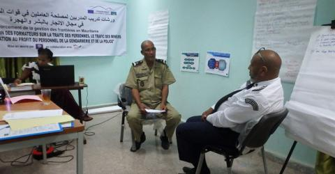 IOM Mauritania facilitates a Training of Trainers (ToT) on Human Trafficking and Migrants Smuggling for selected border officials at the Headquarters of the General Directorate for National Security (DGSN) in Nouakchott last 17 March. © IOM 2015