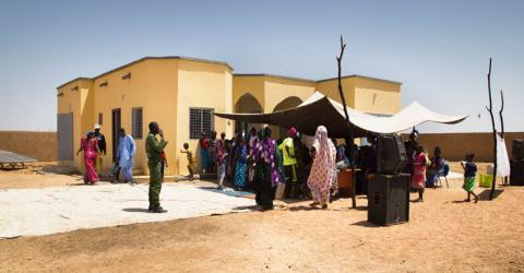 Inauguration of a new border posts constructed by IOM in southern Mauritania. © IOM/Bechir Malum 2016