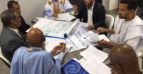Judicial officials attending the training on trafficking in persons in Mauritania. Photo:  IOM / F Giordani