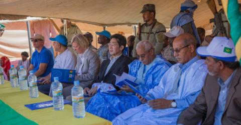 Delegates attend the inauguration of the border post. Photo: IOM