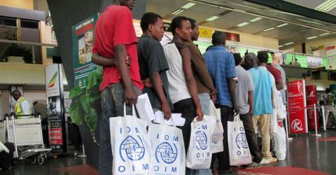 IOM facilitates the return of Ethiopian irregular migrants stranded in Malawi.  © IOM 2015