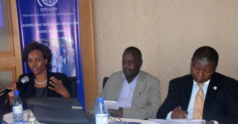 IOM organizes a national consultative meeting to address mixed and irregular migration in Malawi. © IOM 2016