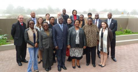 Participants of an IOM-organized training workshop on the essentials of migration management for the development of a Migration Profile in Namibia in Swakopmund, Namibia on 17-19 June. © IOM 2015