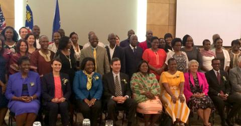 The Government of the Republic of Namibia and IOM launch a three-year initiative to combat trafficking in persons in the country. Photo: IOM 2016