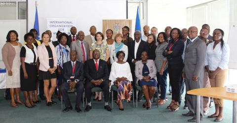 Participants at the launch of the MECC project in Namibia. Photo: IOM