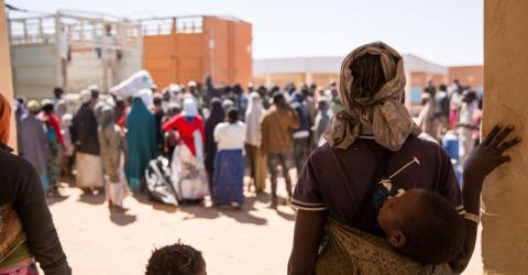 IOM transit center in Niger. Photo: IOM/Amanda Nero 2016