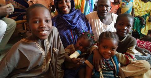 Nigerian families prepare to return home from Sudan. Photo: IOM