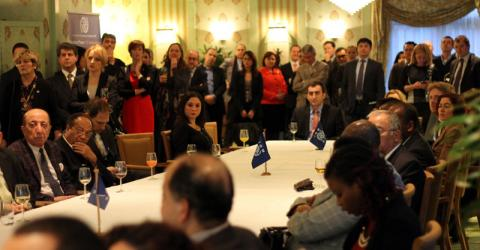 IOM Netherland's annual New Year's Reception for representatives from Embassies, Consulates and the Dutch government on 29 January 2015. © IOM 2015