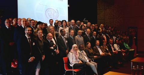 Representatives from the diplomatic community, the Dutch government, the European Union, civil society and  academia attend IOM's international conference on reintegration of returning migrants. © IOM 2015