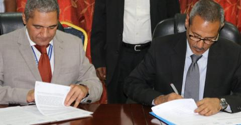 The government of Sudan and the UN Migration Agency (IOM) renew their humanitarian assistance cooperation agreement. Photo: UN Migration Agency (IOM)