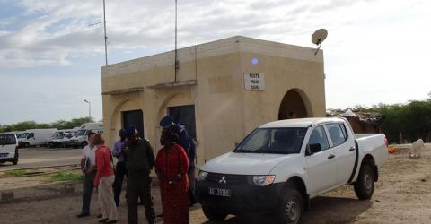 The Diama police post on the Senegal-Mauritania border is scheduled for renovation. Photo: IOM 2016.