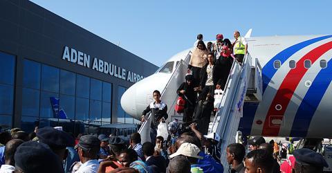 Cette semaine, l'OIM a évacué 95 Somaliens du Yémen. © OIM Somalie 2015