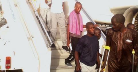 Retornados senegaleses llegan a Dakar, Senegal. Foto: OIM 2016