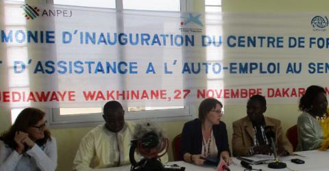 IOM and Caixa Foundation launch a youth centre for training and entrepreneurship in Dakar, Senegal. © IOM 2015