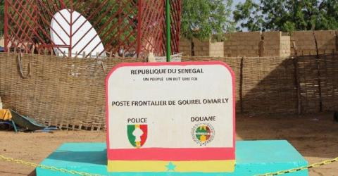 A border post on Senegal's river border with Mauritania. Photo: IOM 2015