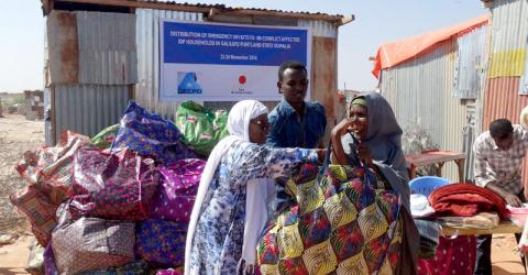Japan has funded a wide range of IOM projects to help displaced families in Somalia. File photo: IOM