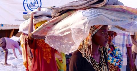Distribución de kits de artículos no alimentarios y refugio en la ciudad de Wau, Sudán del Sur. Foto: OIM / Gonzalez 2016